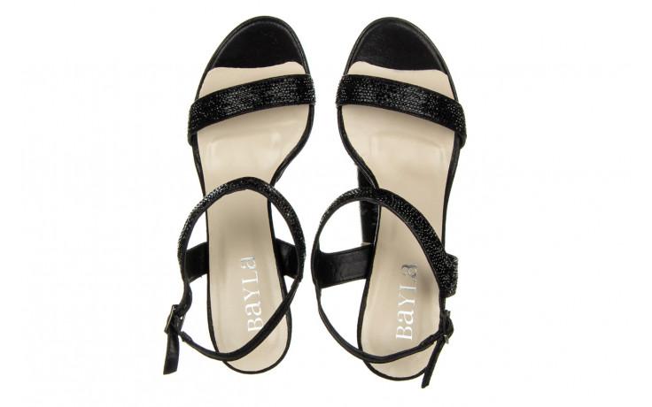 Sandały bayla-187 587-536 black 187019, czarny, skóra ekologiczna  - sandały - buty damskie - kobieta 4