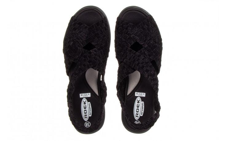 Sandały rock minily black cashmere 032847, czarny, materiał  - rock - nasze marki 4