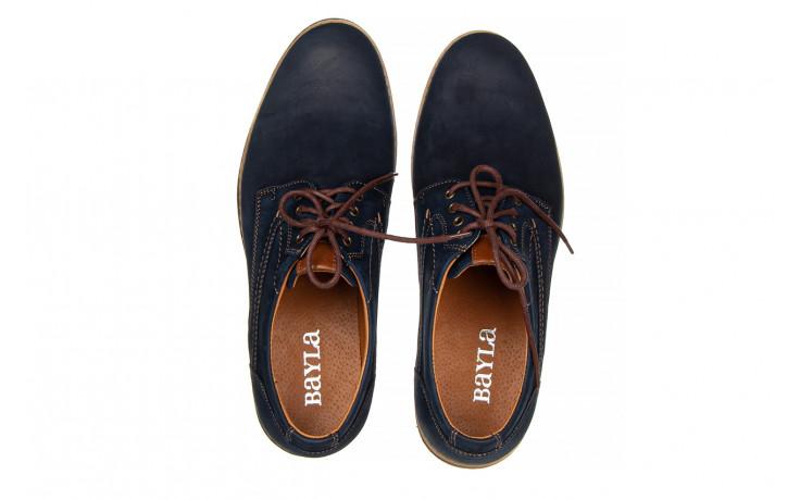 Półbuty bayla-081 831 juma blue ax, granat, skóra naturalna  - wizytowe - półbuty - buty męskie - mężczyzna 4