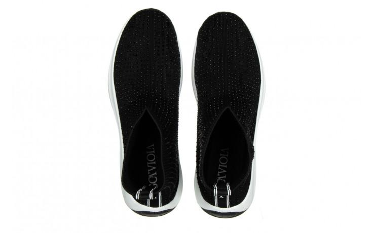 Sneakersy sca'viola l-15 black 047194, czarny, materiał - trendy - kobieta 4