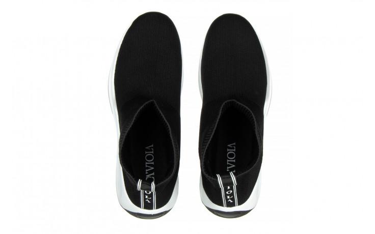 Sneakersy sca'viola l-16 black 047195, czarny, materiał - jesień-zima 2020/2021 4