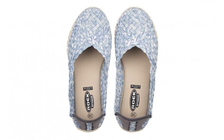 Półbuty rock carioca perena blue smoke 032826, niebieski/ biały, materiał - wsuwane - półbuty - buty damskie - kobieta 4