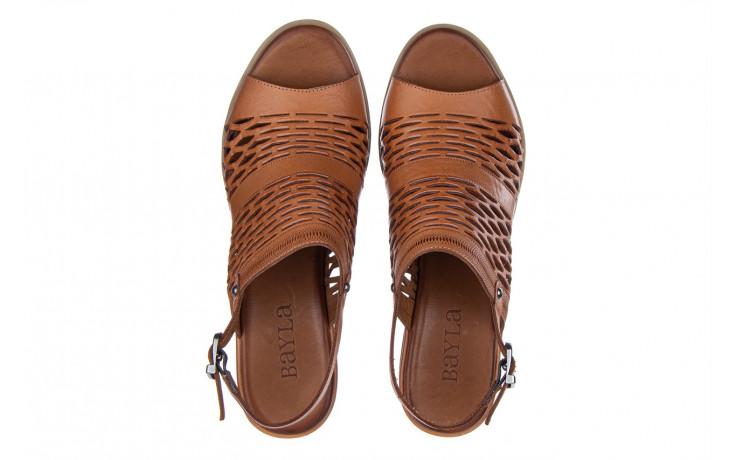 Sandały bayla-161 061 1600 tan 161201, brąz, skóra naturalna  - bayla - nasze marki 4