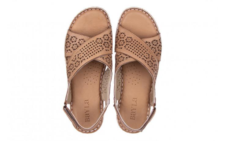 Sandały bayla-161 016 921 cappuccino 161192, brąz, skóra naturalna - sandały - buty damskie - kobieta 4