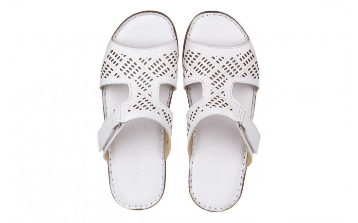 Klapki bayla-161 016 460 white 161189, biały, skóra naturalna  - bayla - nasze marki 4