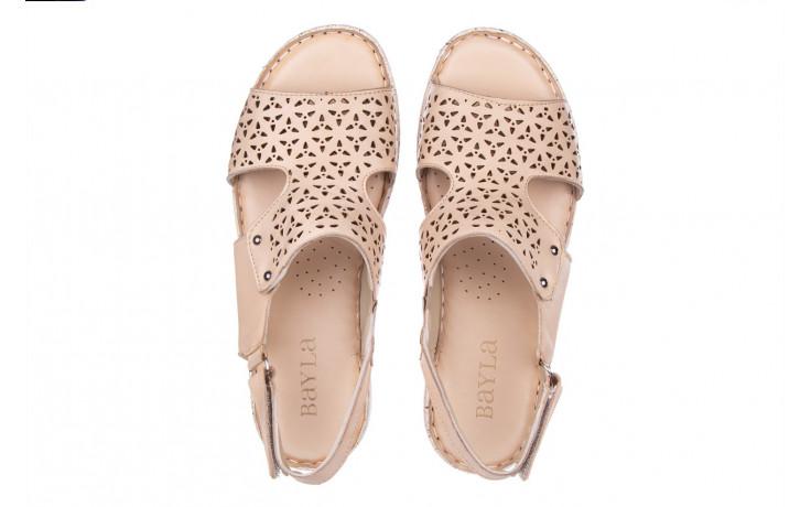 Sandały bayla-161 016 966 beige 161195, beż, skóra naturalna 4