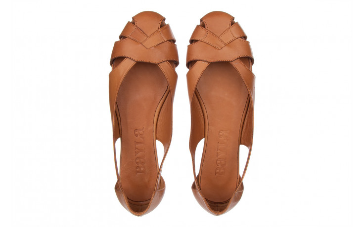 Baleriny bayla-161 093 6047 coconut 161209, brąz, skóra naturalna  - skórzane - baleriny - buty damskie - kobieta 4