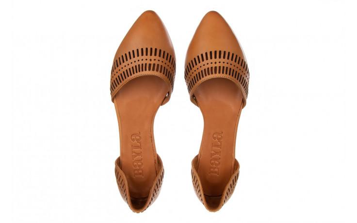 Baleriny bayla-161 138 1102 coconut 161216, brąz, skóra naturalna  - skórzane - baleriny - buty damskie - kobieta 4