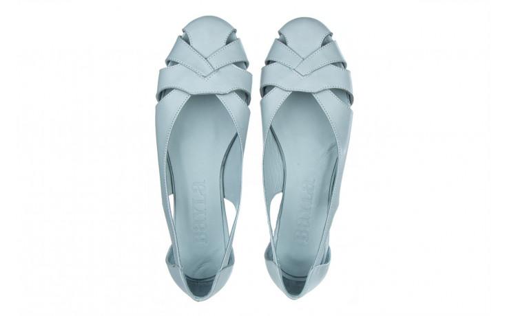Baleriny bayla-161 138 1560 fresh 161220, niebieski, skóra naturalna - skórzane - baleriny - buty damskie - kobieta 4