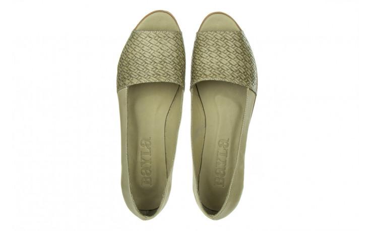 Baleriny bayla-161 138 80132 khaki 161227, zielony, skóra naturalna  - baleriny - dla niej  - sale 4
