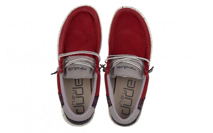 Półbuty heydude wally hawk lava grey 003200, czerwony, materiał - trendy - mężczyzna 4