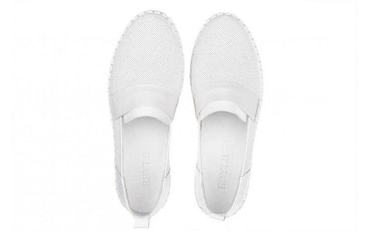 Półbuty bayla-161 064 6013 white 161205, biały, skóra naturalna  - bayla - nasze marki 4