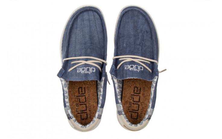 Półbuty heydude wally linen natural blue 003204, granat, materiał  - trendy - mężczyzna 4