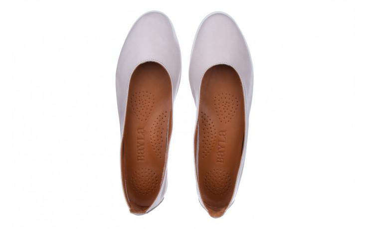 Baleriny bayla-161 059 f007 34 silver grey 161230, beż, skóra naturalna  - skórzane - baleriny - buty damskie - kobieta 4