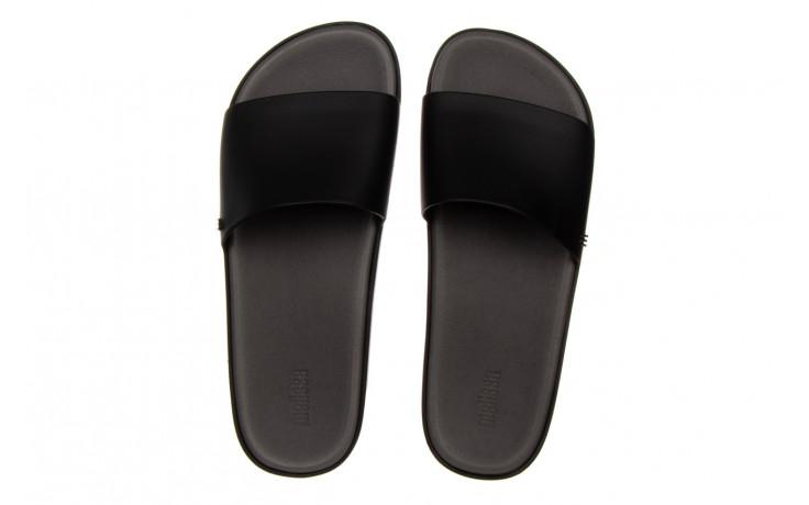 Klapki melissa beach slide next gen ad matte black smoke 010338, czarny, guma - klapki - buty damskie - kobieta 4