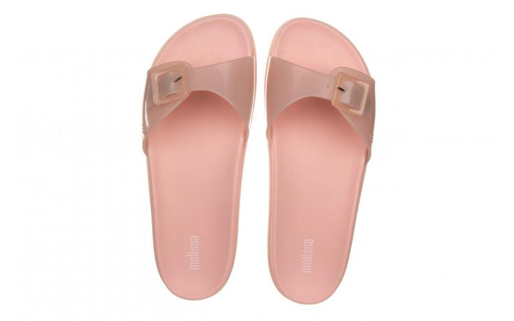 Klapki melissa wide slide ad soft pink pink transparent 010360, róż, guma - klapki - buty damskie - kobieta 4