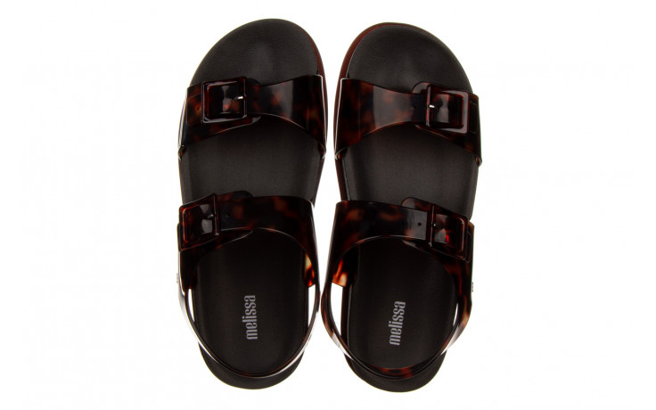 Sandały melissa wide platform ad black turtoise 010362, czarny/ brąz, guma - nowości 4