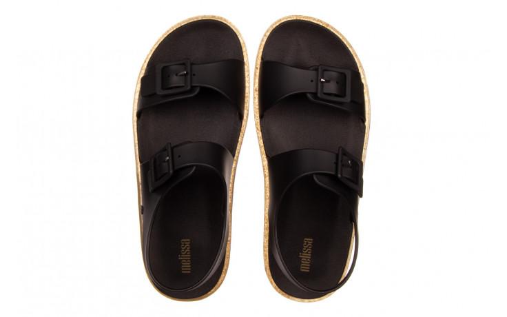 Sandały melissa wide sandal ad black rice husk 010358, czarny, guma - nowości 4