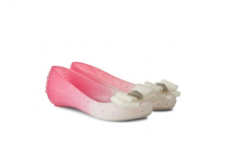 Baleriny sca'viola 870 pink, róż/biały, silikon - ślubne - baleriny - buty damskie - kobieta 1