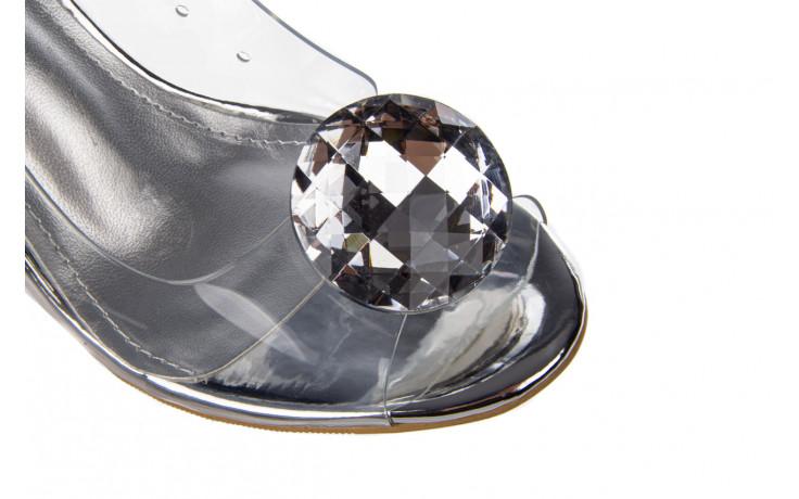 Sandały sca'viola g-17 silver 21 047186, srebro, silikon 5