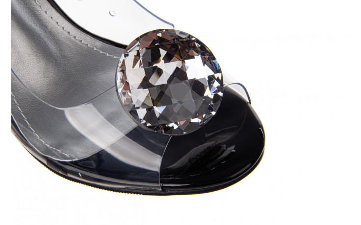 Sandały sca'viola g-17 black 21 047184, czarny, silikon  - na obcasie - sandały - buty damskie - kobieta 6
