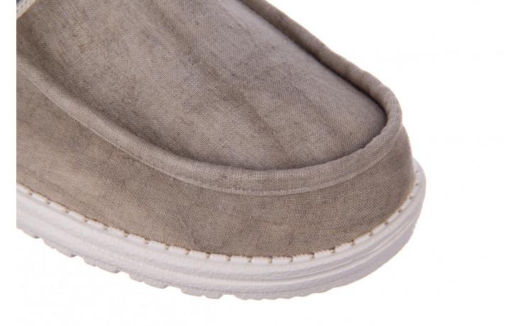 Półbuty heydude wally linen natural khaki 003205, beż, materiał - trendy - mężczyzna 7