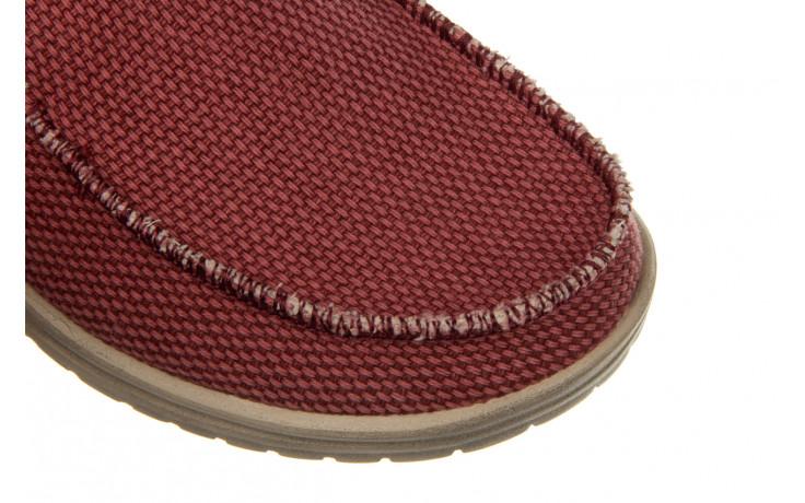Półbuty heydude mikka braided pompeian red 003215, czerwony, materiał  - nowości 6