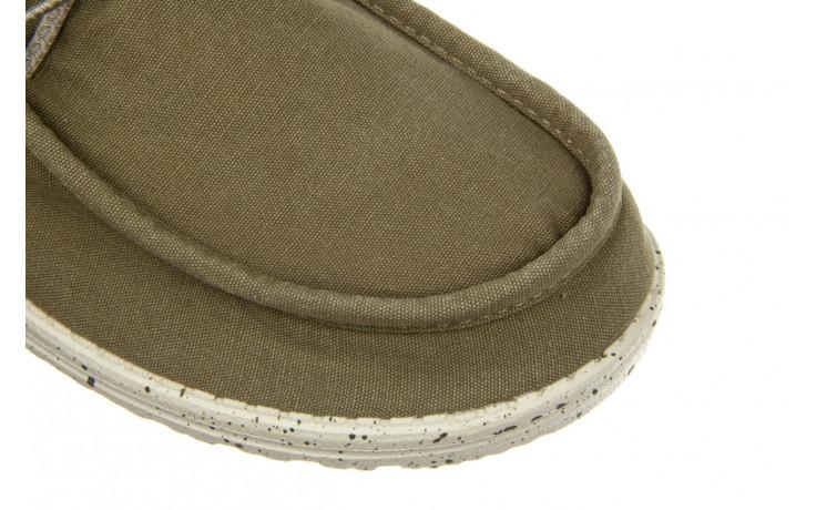 Półbuty heydude wally washed kalamata 003216, zielony, materiał 5
