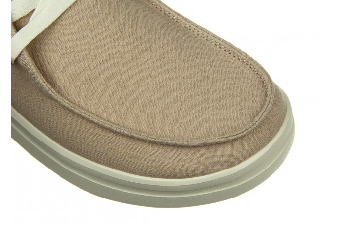 Półbuty heydude wendy rise chambray sandshell 003221, beż, materiał 5