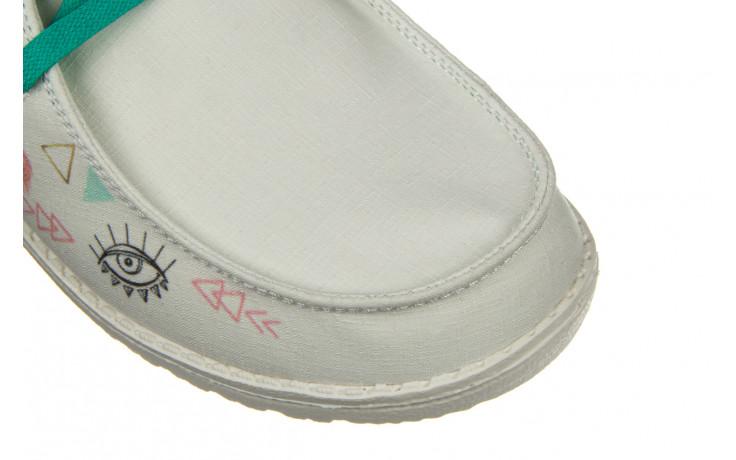 Półbuty heydude wendy doodle star white 003219, biały, materiał - nowości 5