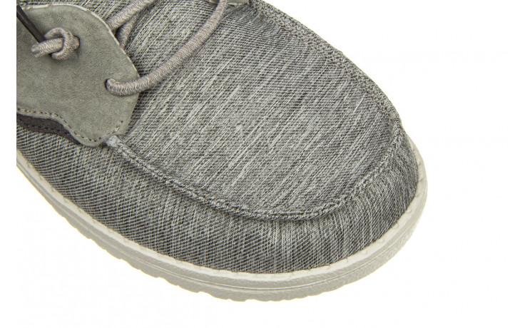 Półbuty heydude laila chambray ice grey 003214, szary, materiał - dla niej  - sale 7