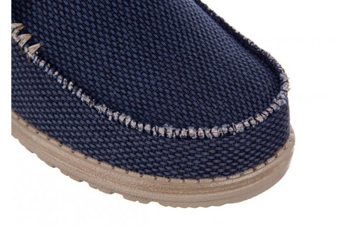 Półbuty heydude wally braided blue night 003197, granat, materiał  - trendy - mężczyzna 5