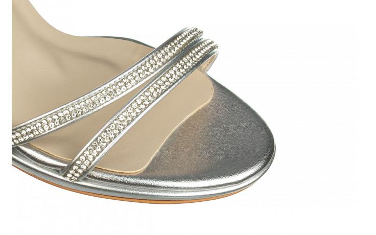 Sandały bayla-187 587-1120 silver 187016, srebro, skóra ekologiczna  - sandały - buty damskie - kobieta 5