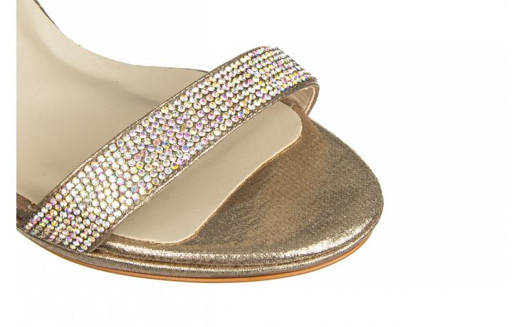 Sandały bayla-187 587-536 gold 187020, złoty, skóra ekologiczna 5