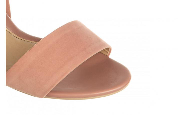 Sandały azaleia 680 242 suede old pink, róż, materiał  - koturny - buty damskie - kobieta 5
