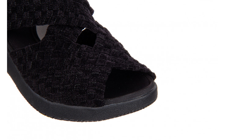 Sandały rock minily black cashmere 032847, czarny, materiał  - rock - nasze marki 5