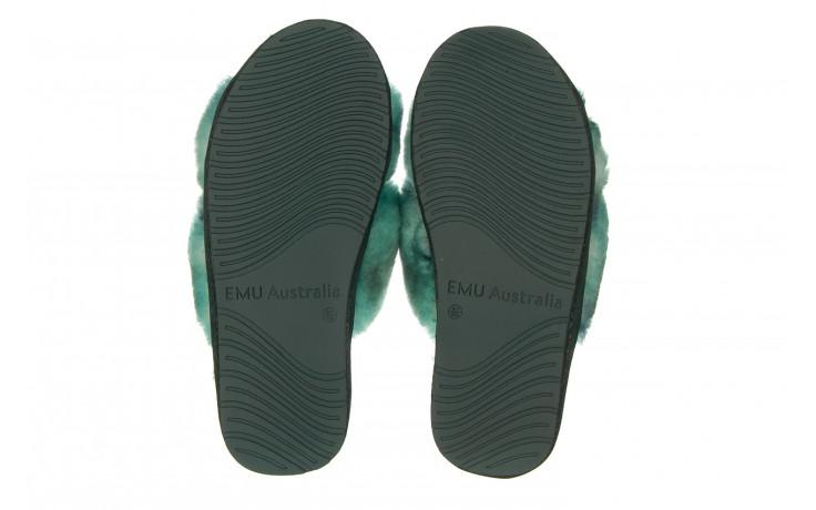 Kapcie emu mayberry tie dye green sea 119138, zielony, futro naturalne  - nowości 5