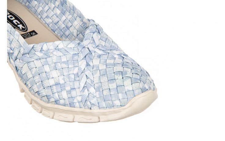 Półbuty rock carioca perena blue smoke 032826, niebieski/ biały, materiał - wsuwane - półbuty - buty damskie - kobieta 5