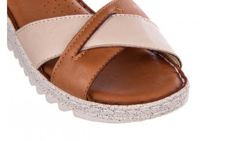 Sandały bayla-161 016 981 beige coconut 161197, brąz/ beż, skóra naturalna  - bayla - nasze marki 5