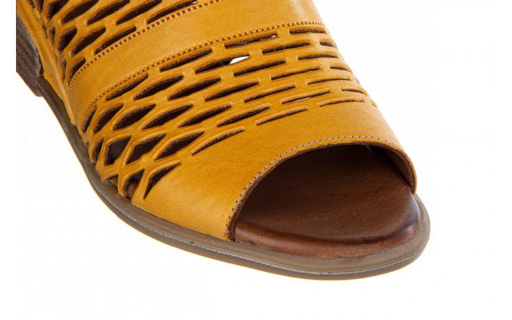 Sandały bayla-161 061 1600 noce 161200, żółty, skóra naturalna  - bayla - nasze marki 7