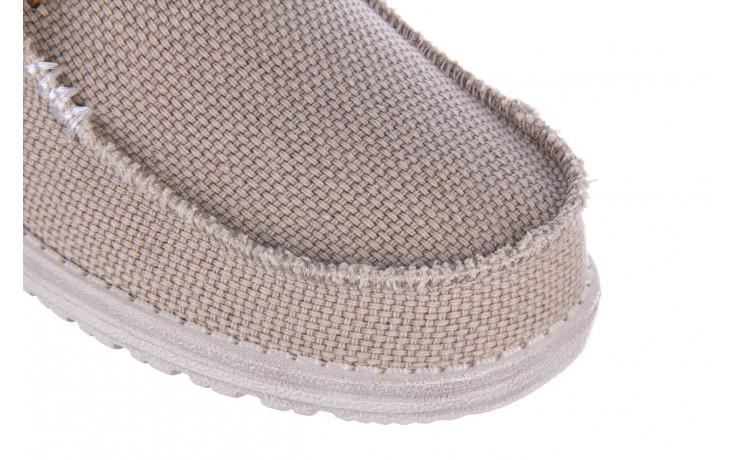 Półbuty heydude wally braided off white 003199, beż, materiał - trendy - mężczyzna 5