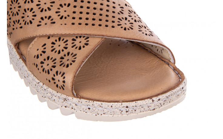 Sandały bayla-161 016 921 cappuccino 161192, brąz, skóra naturalna - sandały - buty damskie - kobieta 5