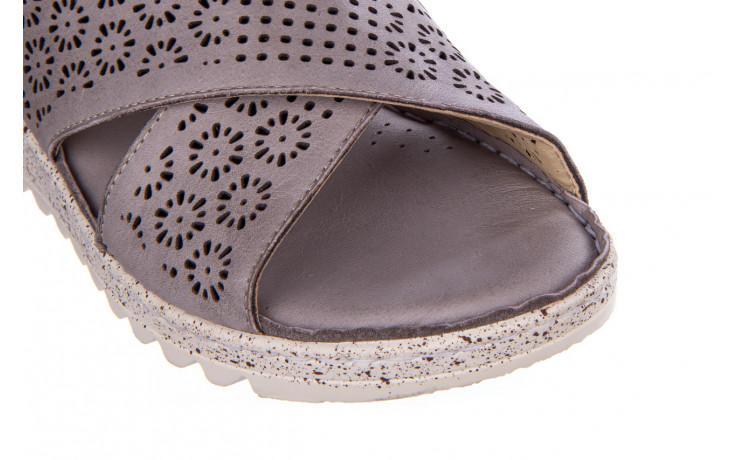 Sandały bayla-161 016 921 grey 161193, szary, skóra naturalna  - bayla - nasze marki 6