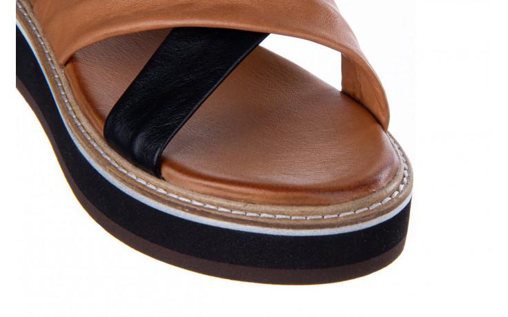 Klapki bayla-161 105 6004 black tan 161214, czarny/ brąz, skóra naturalna  - klapki - buty damskie - kobieta 6