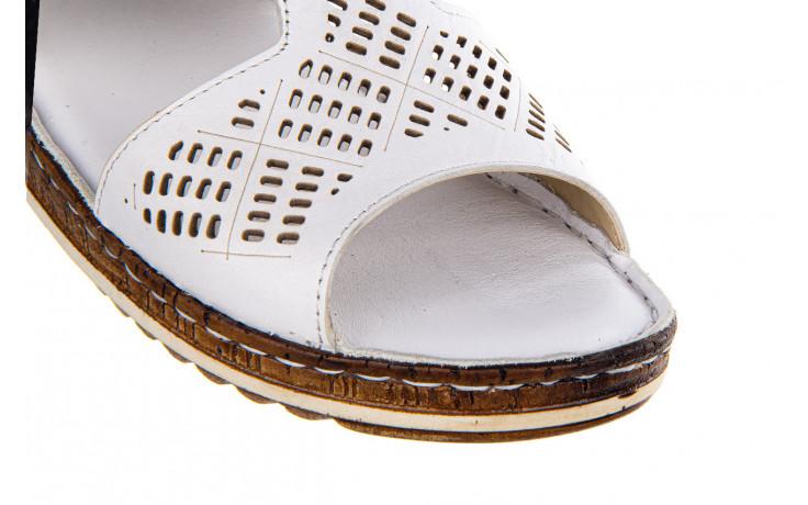 Klapki bayla-161 016 460 white 161189, biały, skóra naturalna  - bayla - nasze marki 5