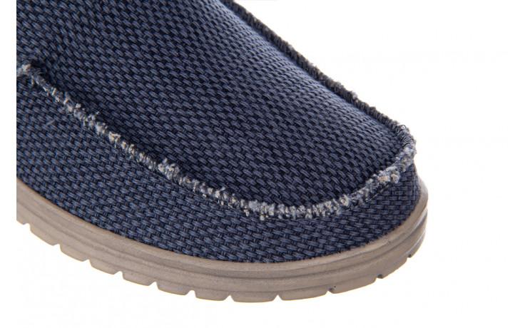 Półbuty heydude mikka braided deep blue 003196, granat, materiał - buty męskie - mężczyzna 6
