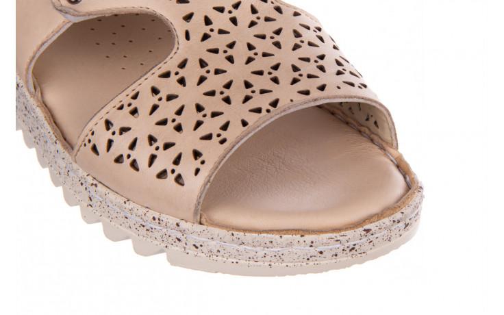 Sandały bayla-161 016 966 beige 161195, beż, skóra naturalna 5