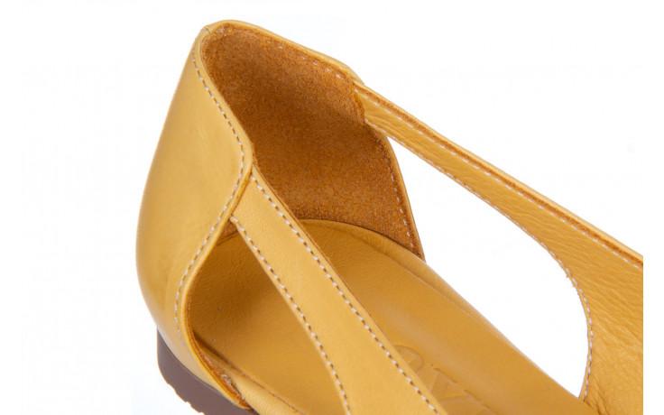 Baleriny bayla-161 138 1560 noce 161221, żółty, skóra naturalna  - bayla - nasze marki 5