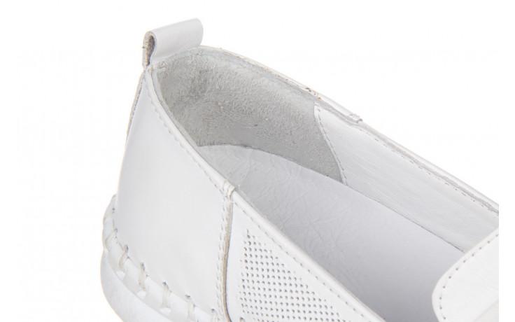 Półbuty bayla-161 064 6013 white 161205, biały, skóra naturalna  - bayla - nasze marki 5