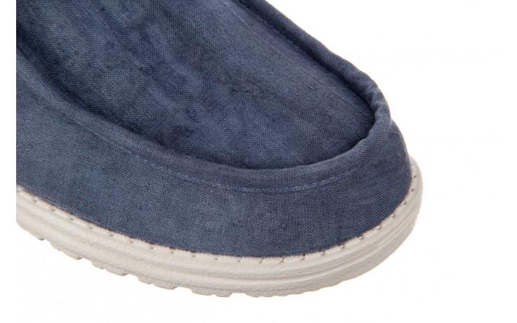 Półbuty heydude wally linen natural blue 003204, granat, materiał  - trendy - mężczyzna 5